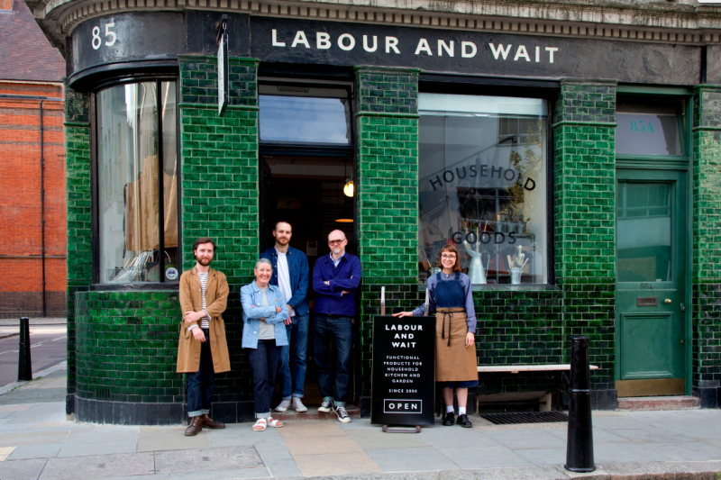 Labour and Wait storefront