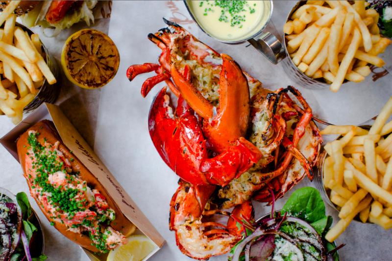 Burger & Lobster dish