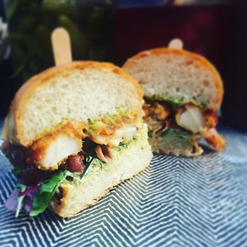 Shoal food fish finger sandwich